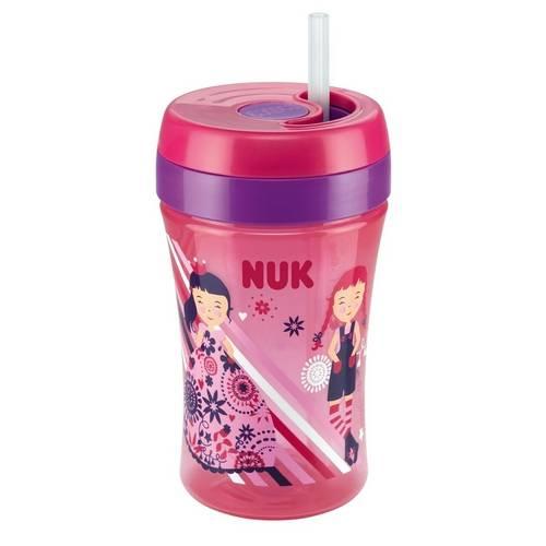 Copo Fun Cup Rosa 18 Meses + Canudo de Reposição Nuk