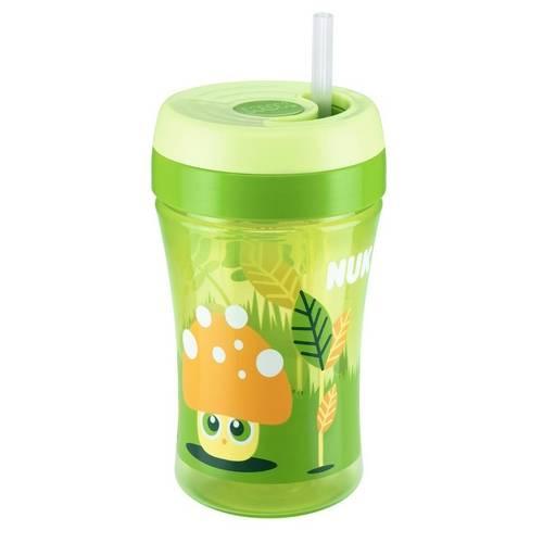 Copo Fun Cup Verde 18 Meses + Canudo de Reposição Nuk