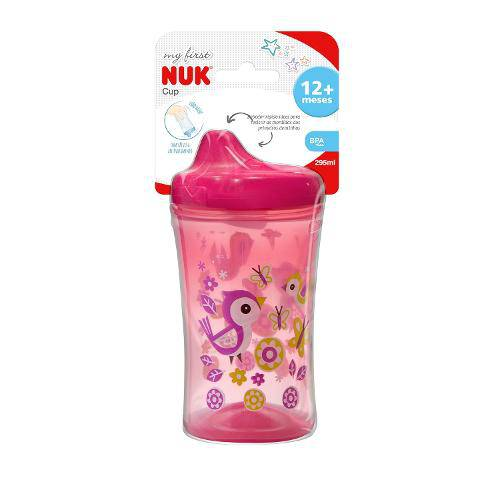 Copo My First Cup Nuk Rosa 12m+