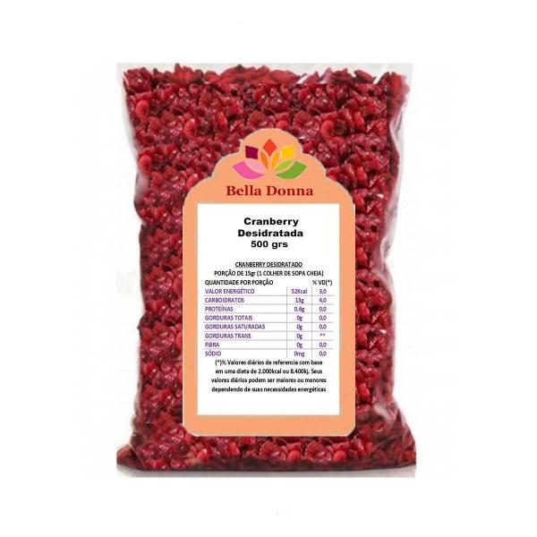 Cranberry Fruta Seca Desidratada 500 Grs Importada - Bella Donna