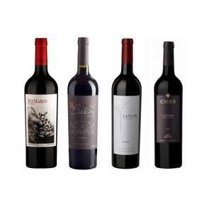 Degustação de Vinhos Uva Malbec 4 Rótulos 750ml