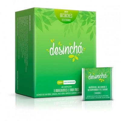 Desinchá Chá Misto Antioxidante Leve e Refrescante 60 Sachês