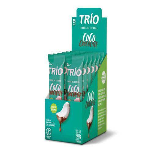 Display Barra Cereal Coco com Chocolate Trio 12uni 240g
