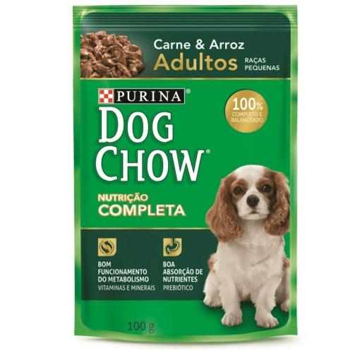 Dog Chow Sachê Adulto Raças Pequenas Carne e Arroz 100g