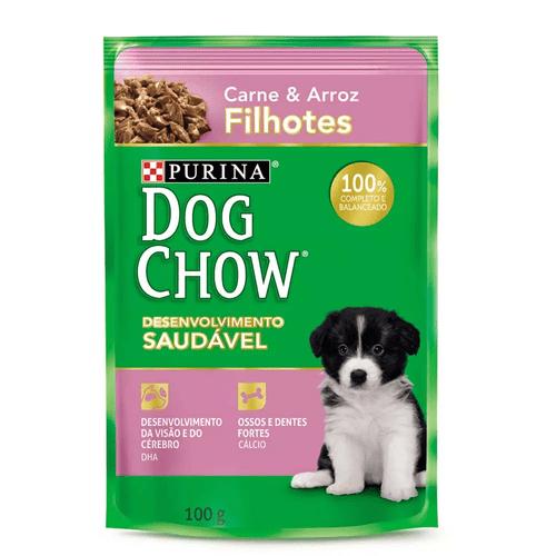 Dog Chow Sachê Filhotes Carne e Arroz 100g
