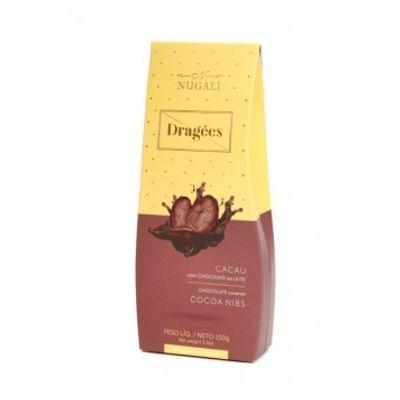 Dragées Cacau com Chocolate ao Leite 100g - Nugali