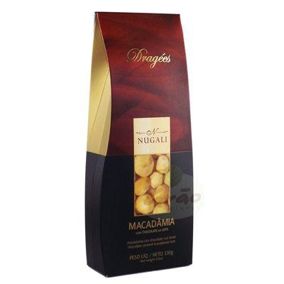 Dragées Macadâmia com Chocolate ao Leite 100g - Nugali