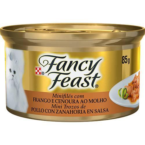Enlatado para Gatos Sabor Frango e Cenoura ao Molho Minifilés 85g - Fancy Feast