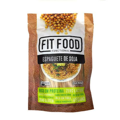 Espaguete de Soja Orgânica Fit Food 200g