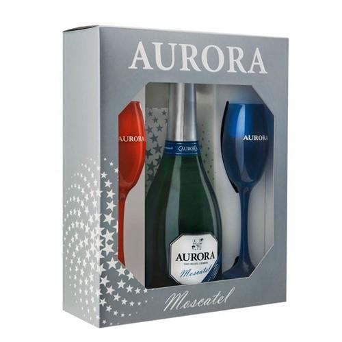 Espumante Aurora 750ml +2 Tacas Moscatel