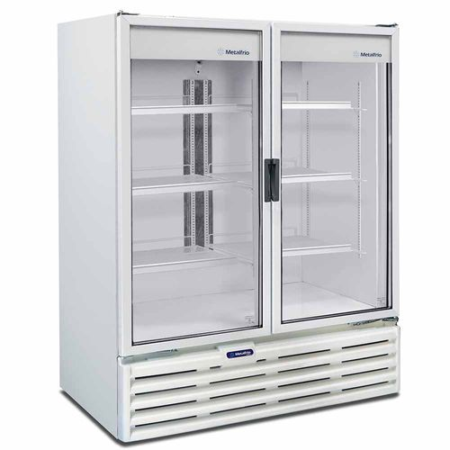 Expositor 2 Portas VB99R Metalfrio Refrigerador de Bebidas Branco 1186 Litros VB99R 110v