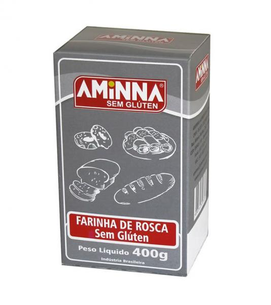 Farinha de Rosca Sem Glúten 400g - Aminna