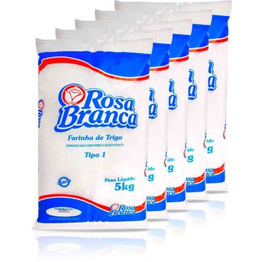 Farinha de Trigo Especial Rosa Branca 5kg Fd. C/ 5 Pct.