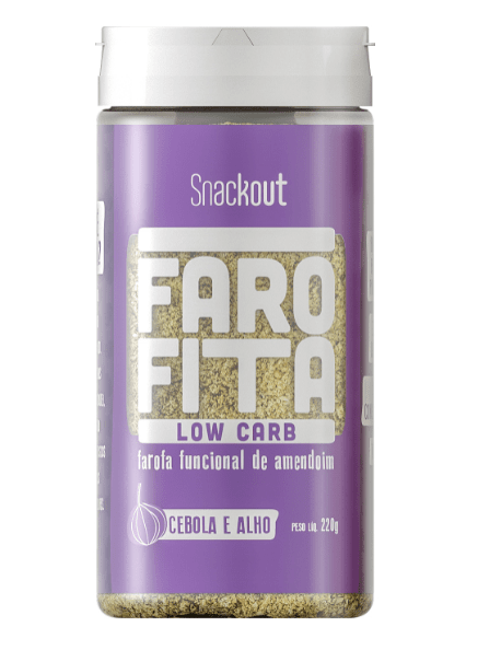 Farofita Low Carb Sabor Cebola e Alho 220g - Snackout