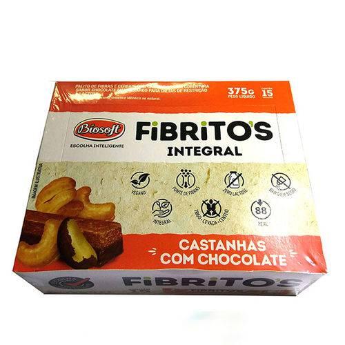 Fibritos com Castanha de Caju Biosoft (cx C/ 15un de 25g)