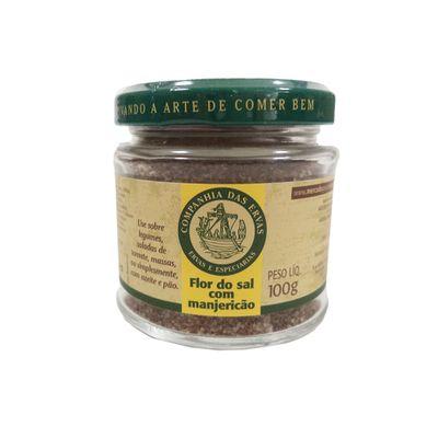 Flor do Sal com Manjericão 100g - Companhia das Ervas