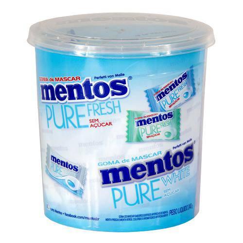 Goma de Mascar Mentos Pure Fresh Sortido C/160 - Perfetti