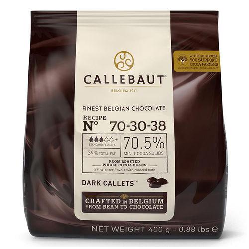Gotas de Chocolate Amargo no 70-30-38 400g - Callebaut