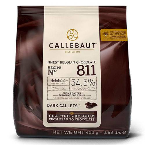 Gotas de Chocolate Amargo no 811 400g - Callebaut