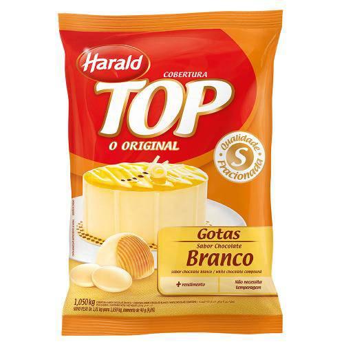Gotas de Chocolate Fracionado Branco 1,05kg - Harald