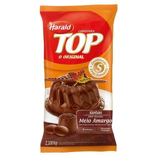 Gotas de Chocolate Fracionado Meio Amargo 2,1kg - Harald