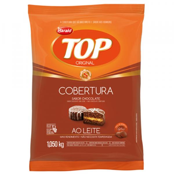 Gotas de Chocolate Fracionado Top ao Leite 1,05kg - Harald