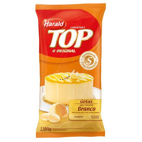 Gotas de Chocolate Fracionado Top Branco 2,1kg - Harald