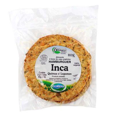 Hamburguer de Soja Inca Quinoa com Legumes 90g - Ecobras