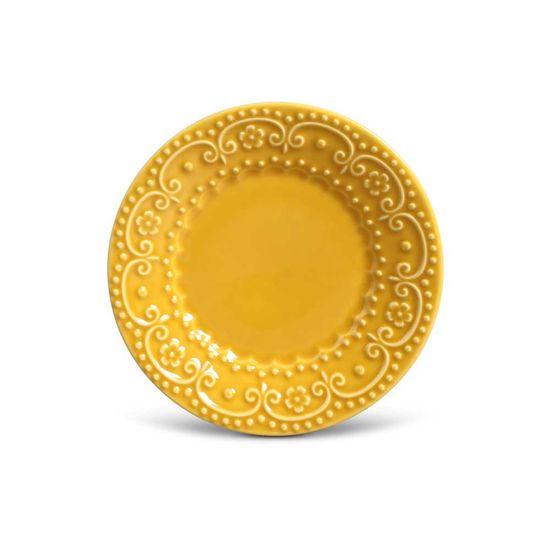 Jogo de 6 Pratos Sobremesa Esparta Mostarda