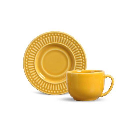Jogo de 6 Xícaras de Chá Roma Mostarda