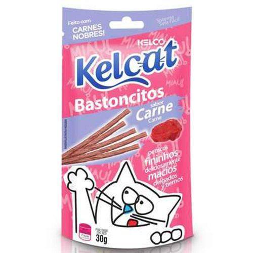 Kelcat Bastãocitos Carne - 30 Gr