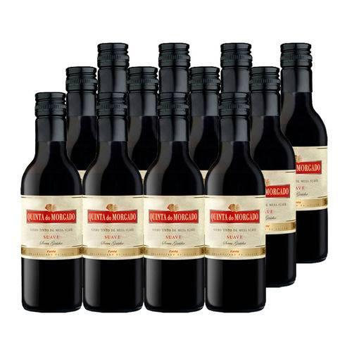 Kit 12 Un Mini Vinho Quinta do Morgado Bordo Suave 245ml Tinto