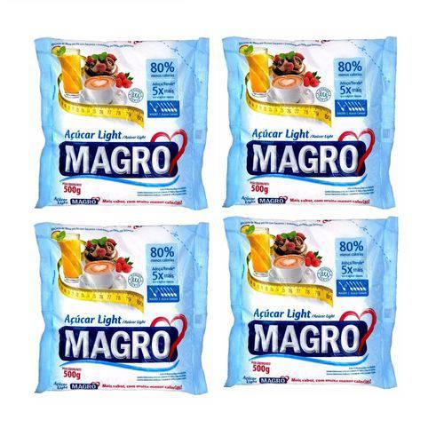 Kit 10 Pacotes de Açúcar Light 500g Magro