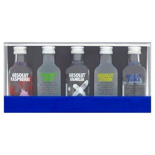 Kit 5 Miniaturas Vodka Absolut Sabores 50 Ml Edição Limitada