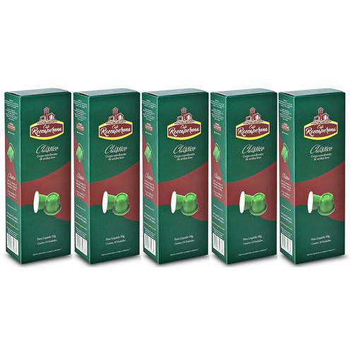Kit 50 Cápsulas de Café Roccaporena Compatível com Nespresso - 05 Caixas Clássico