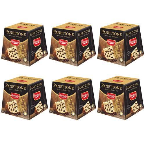 Kit 6 Panettones Gotas Chocolate 400g - Romanato
