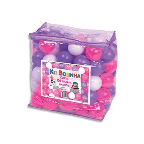 Kit Bolinhas Coloridas - Rosa, Lilás e Branca - Braskit