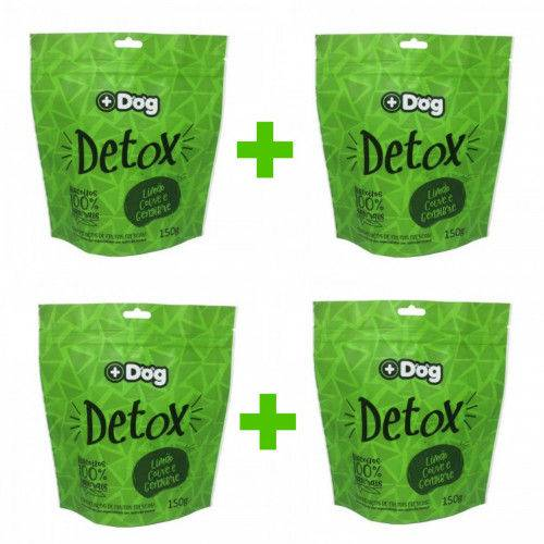 Kit C/ 4 Biscoitos Mais Dog Detox 150g