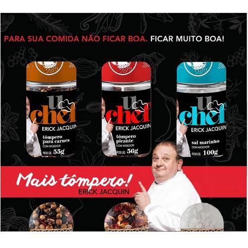 "Kit Carnes 03 ""Tômperos"" do Jacquin 211g - U Chef Erick Jacquin"