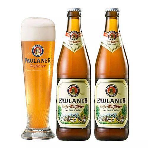 Kit Cerveja Paulaner Hefe Weibbier com Copo