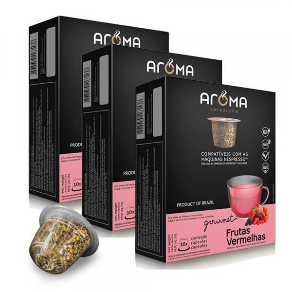 Kit Chá Aroma Selezione - Frutas Vermelhas - 30 Cápsulas - Compatível Nespresso