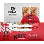 Kit com 12 Barras Pinati Nuts Canela 30g