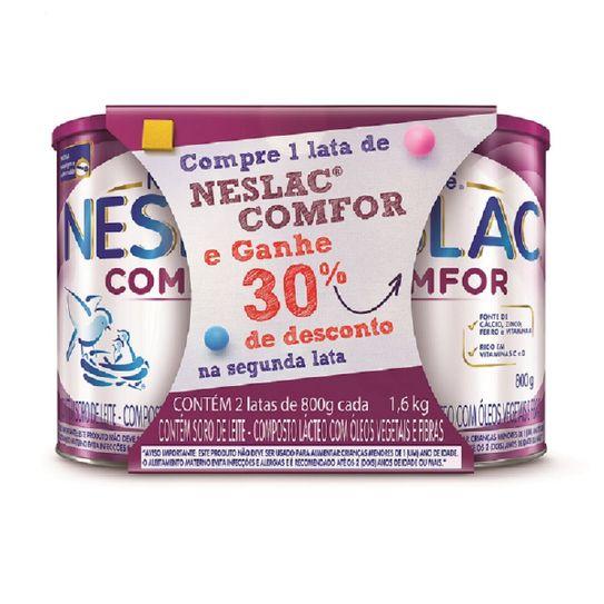 Kit Composto Lácteo Neslac Comfor 1,6kg