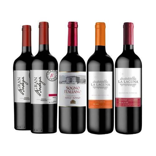 Kit de Vinho Seleção Vivavinho 5 Garrafas