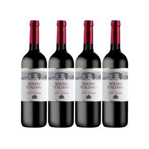 Kit de Vinhos Importados Italianos 4 Garrafas Tinto 750ml