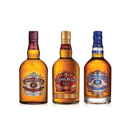 Kit Família Whisky Chivas Regal