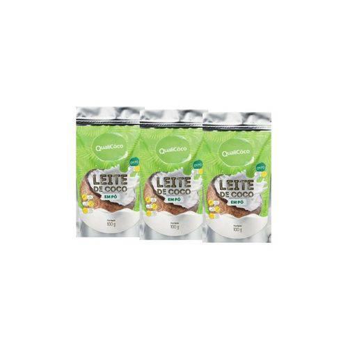 Kit 3 Leite de Coco em Pó - Qualicôco - Sache com 100g
