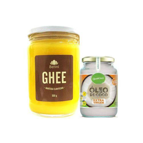 Kit 2 Manteiga Ghee Benni + Óleo de Coco Qualicôco
