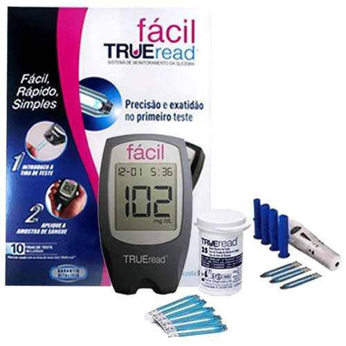 Kit Medidor de Glicose Fácil Trueread