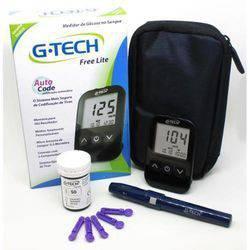 Kit Medidor de Glicose G-tech Free Lite Completo